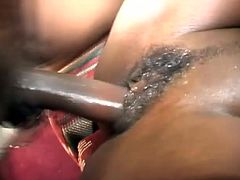 That black butt looks awesome as the attached whore rides a cock cowgirl. She has a great body with a juicy pussy and is having fun
