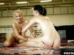 Look at this bitches in oil, bro! Do you like when girls bodies all wet? I bet you like this very much! Check this chicks out in Private xxx clip!