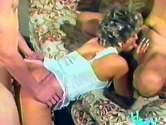 Here is a damn hot retro porn video with a juicy milf, who is going to get licked and such his cock at a time. That's called a 69!