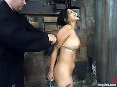 Some BDSM perversions, to be correct and Sebastian is her sex master for today! He is going to make this chick feel so damn fucked up!