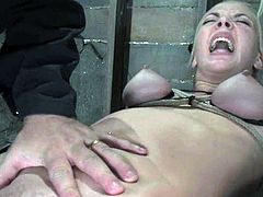 Annette Schwarz gets suspended and toyed by a master