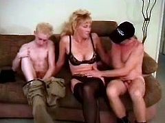 They are all together on the couch and they passion drives them to some drastic measures. This scene is full of perversions!