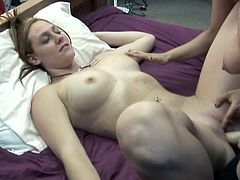 Nasty girls are going wild in hot top rated sex video produced by Chick Pass network. They fuck each others vags with fake plastic cock and suck nipples.