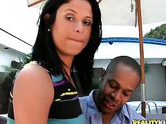 Kid Jamaica makes Mature with big butt suck his meaty ram rod non-stop before anal fun