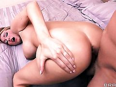 Will Powers plays with dripping wet muff pie of Blake Rose with juicy jugs before he fucks her hard
