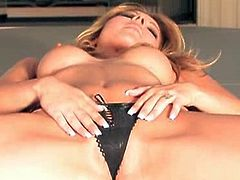 Cindy Hope is a super hot blonde babe with amazing body. She got nice round ass and big tits. Watch her spreading legs to rub her tiny pussy for you!