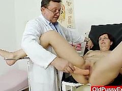 Old Pussy Exam brings you a hell of a free porn video where you can see how a nasty redhead mature enjoys her kinky visit to the doctor and get her cunt examined.