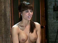 Tied up Gia Dimarco gets fingered and toyed by another girl