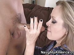 Dyanna Lauren with big knockers gets turned on then dicked by Rocco Reeds hard sausage