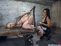 Angelene Black enjoys having BDSM fun with insatiable Sandra Romain