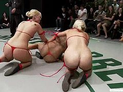 DragonLily, Isis Love, Vendetta, Holly Heart and Tara Lynn Foxx are having a tussle on tatami. They wrestle with each other energetically and then finger and lick each other's hot vaginas.