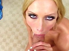 Cassie Young loves to play and stroke like crazy a fat cock during top POV blowjob
