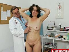 Old Pussy Exam brings you an exciting free porn video where you can see how a mature brunette gets her hairy cunt examined while assuming some very interesting poses.