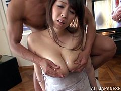 What a sizzling and perverted honey Mio Sakuragi is! She gets naked and enjoys some movements deep in her wet snatch!
