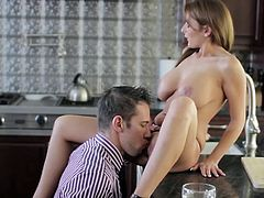 Awesome lady being fucked in doggy style pose