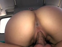 Tempting black haired Japanese beauty Chinatsu Kurusu lets her boy finger fuck her hairy pussy in a bus. Asian hoe rides her friend like a cowgirl and gets railed doggystyle.