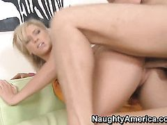 Ally Kay with phat bottom and trimmed twat and hard dicked fuck buddy Danny Wylde have vigorous sex