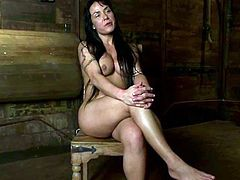 This juicy and slender angel Mahina Zaltana gets naked and tied up so bad! Man, this petite hottie is so fucking amazing for BDSM.