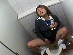 She is a petite innocent asian schoolgirl, but sometimes she gets super horny and needs to release the tension. But she didn't know that she is being watched!