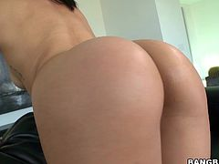 Get a load of this Asian hottie's great ass before this guy licks it and stretches it out with a dildo before sticking his dick into it.