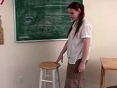 That teacher is using some refined methods of education. It's a bit violent, but Anna, the naughtiest student in class gets the punishments on purpose.