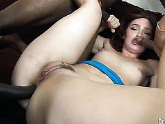Jodi Taylor gets her many times used mouth fucked again by horny man