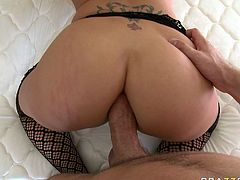 Watch this kinky and slutty babe enjoying that large cock of her new friend sticked in her tight pussy in her bedroom in Brazzers Network sex clips.