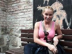 Blonde Kathia Nobili cant live a day without masturbating
