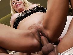 Exotic Erica Lauren fucks like no other and hot fuck buddy Mr. Pete knows it