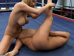 Blonde Karina Shay with juicy melons and Simony Diamond have a lot of lesbian sexual energy to spend