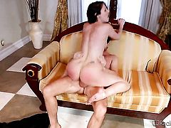 Dane Cross uses his beefy ram rod to bring blowjob addict Samantha Ryan to the height of pleasure