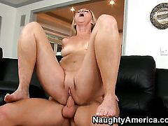 Michael Vegas uses his stiff cock to make Annabelle Brady happy