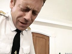 Rocco Siffredi makes Nataly Gold scream and shout with his rock hard dick in her chocolate speedway