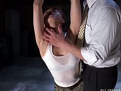 Make sure you have a look at this hot bondage scene where a horny Asian hottie's eaten out while she's tied up and blindfolded with no chance of escaping.