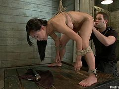 This filthy Asian siren got some huge melons! She gets that huge cock deep inside her hot pussy and then babe enjoys a nice breast bondage!