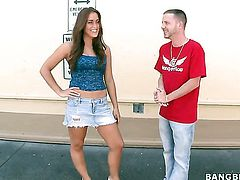 Janessa Price gets her mouth fucked silly by sex crazed guy