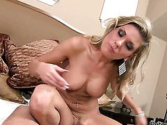 Glamorous doll Aubrey Addams loses control after Peter North puts his erect rod in her mouth