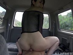 Car fucking is what this stunning Japanese babe wanted so bad! Yui Hatano is a lusty babe and she is entertaining her dude in the car.
