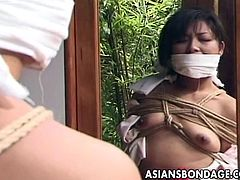 Japanese men loves BDSM sex too much.These horny men loves their slaves and girls tied in ropes so they can play with them anytime.Watch this sexy Japanese in her Japanese traditional dress Kimono but not for long as this horny dude rips her clothes off, exposing her sexy body to make her shame and humiliated.