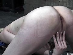 Sexy blonde milfs Rain DeGrey and Trina Michaels are having a good time in a basement. They get bound by some horny dude and undergo some hot tortures.
