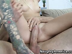 Sexy bodied gal Emma Mae getting satisfaction with hard dicked dude Jordan Ash