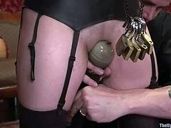 Iona Grace and Rain DeGrey are playing dirty games with some men in a living room. The chicks get tied up, tortured and then forced to eat each other's cunts.