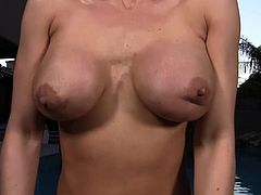 Impressive Brianna Jordan looks amazing while posing her nude forms in superb solo
