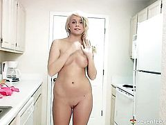 Alexis displays her private parts before she masturbates