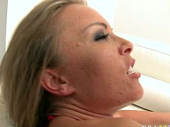 Tight butthole of shapely Jessica Moore gets boned missionary style