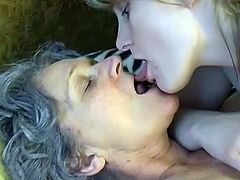 Busty slut is pleasing granny in kinky lesbian porn session. She fondles firm clitoris of horny granny. Then she applies big sex toy on hairy coochie. Filthy lesbian fuck video featuring kinky granny.