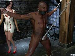 This desirable and slender siren January Seraph is going to make some fun on Jack Hammer! She ties him up and makes him feel so fucked up!