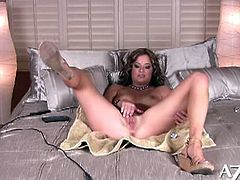 Bella Rossi makes her own masturbation video this time because she's horny and wants to play with her glass dildo.