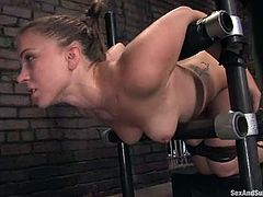 Device bondage and doggy style fuck for Kirra