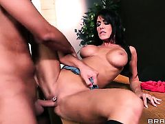 Jessica Jaymes with huge tits gets shagged by Keiran Lee the way she loves it